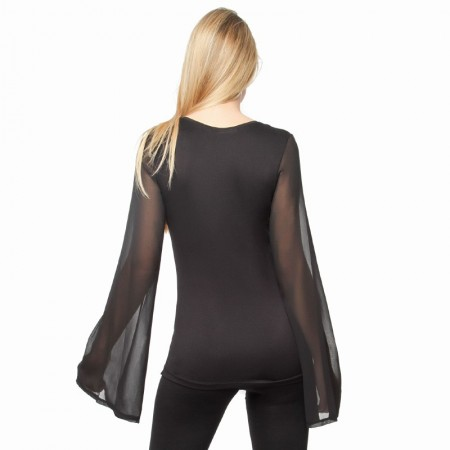 Woman's Top Carolyn Solid Black