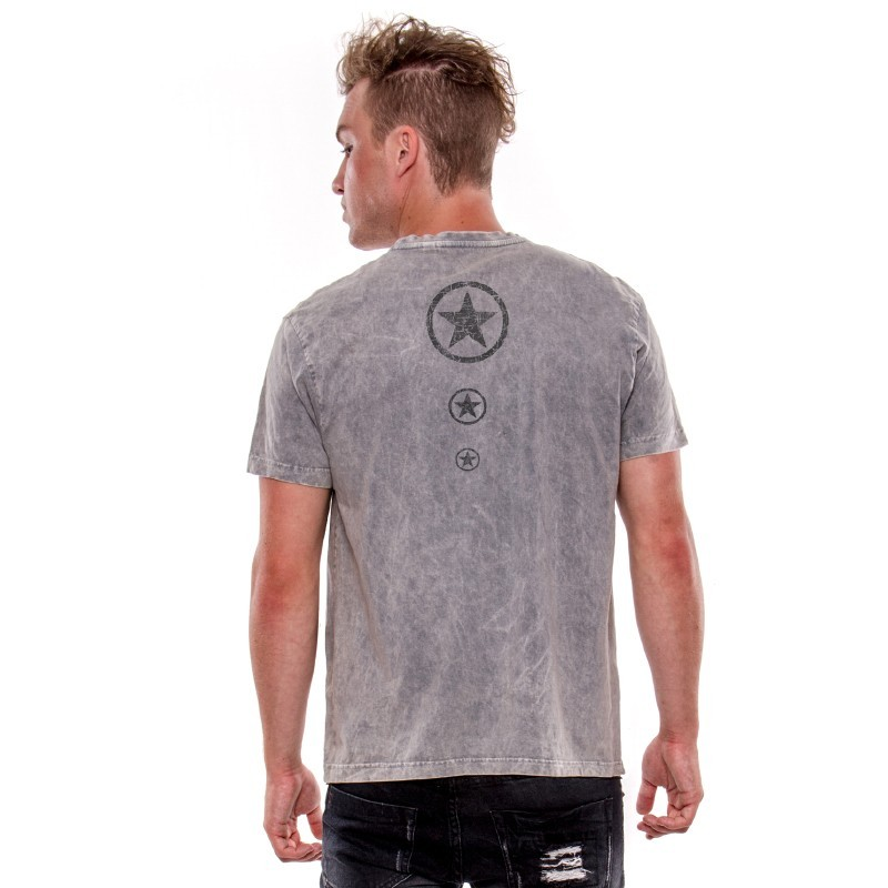 AEA Man's T-shirts   Rebel Rocker Vintage Grey Perla