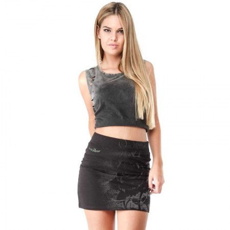 "AEA Woman's Skirt Gent ""Roses Nest"" Solid Black"