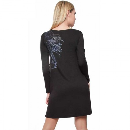 """AEA Woman's Dress  Aibar  """"The Uninvicted"""" Guest Solid Black"""