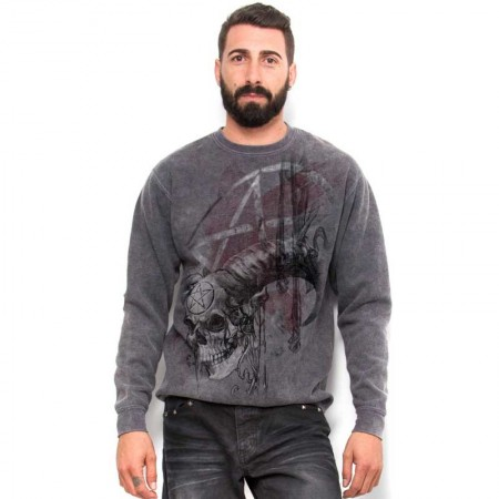 "AEA Man Sweat-shirt  ""Samhain Skull"" Marlite grey"