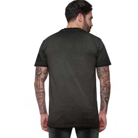 """AEA Man t-shirt  """"Berserker Skull"""" Oil Dye Anthracite"""