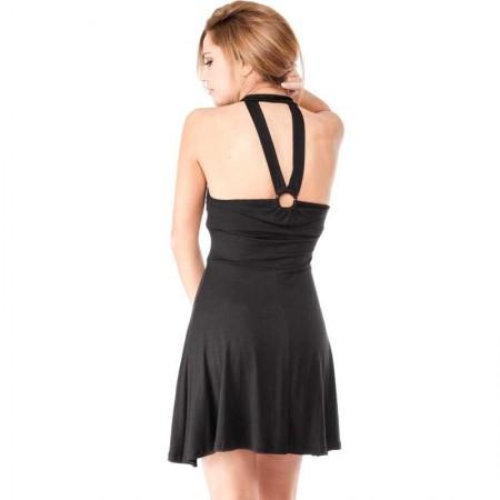 "AEA Woman's Dress Hasselt ""SaintCorvus miracles""  Solid Black"