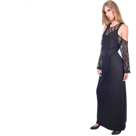 OV Woman's Dress JOJO Solid Black