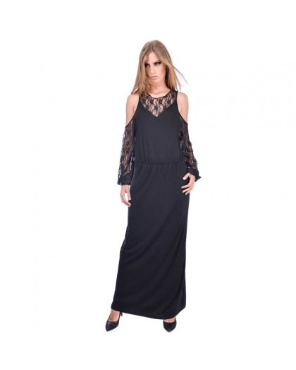 OV Woman's Dress JOJO Solid Black
