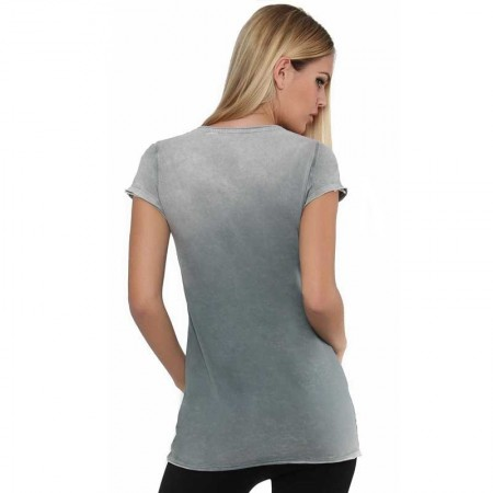 OV Woman's Top Sasha Retro Stone Perla Grey