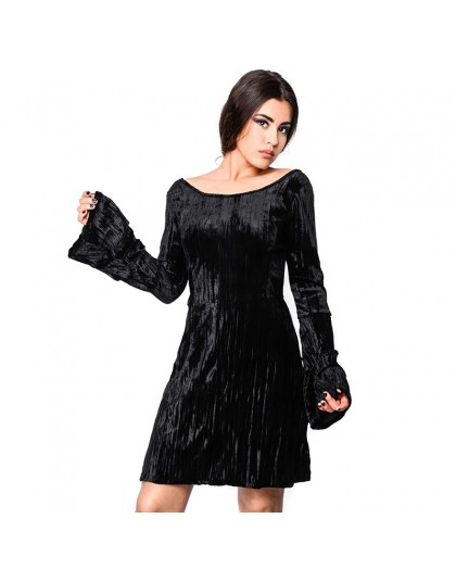 OVG Woman's Dress Noci Velvet Black
