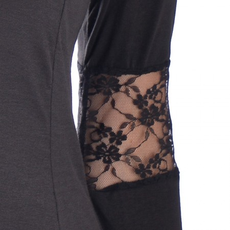 OVG Woman's Dress Princesa Solid Black
