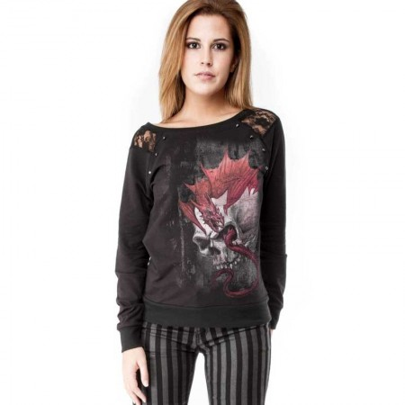 AEA Woman's Sweat-shirt Dresden Wrym skull