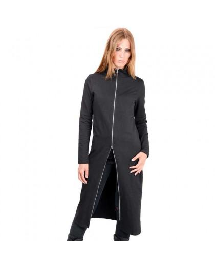 AEA Woman's Zip Cardigan Luna Solid Black