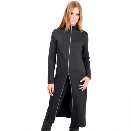 AEA Woman's Zip Cardigan Luna Solid Black