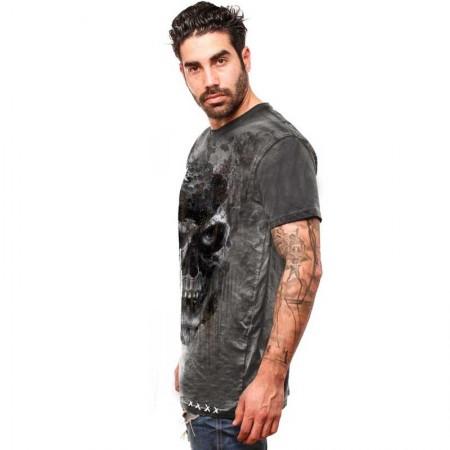 "AEA Man t-shirt  ""Pole Axed"" Spray Wash Black"