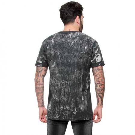 "AEA Man's T-shirts ""Mercurial Lament"" Cracked Black grey"