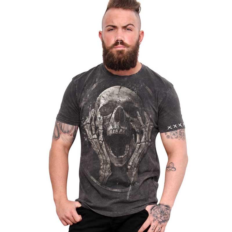 "AEA Man t-shirt  ""The Scream Returned"" Returned Grey"