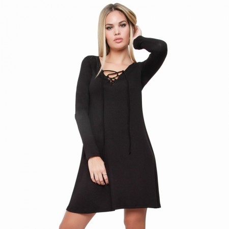 OVG Woman's DRESS  AIBAR black