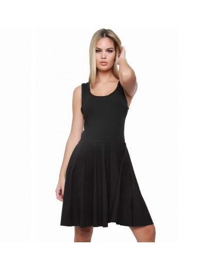 OVG Woman's REVERSIBLE DRESS  black