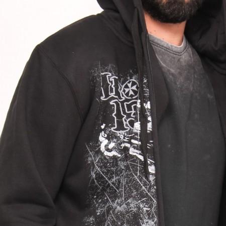 OVG OV Man's ZIP Hoodie Ottawa Grey melange- Black