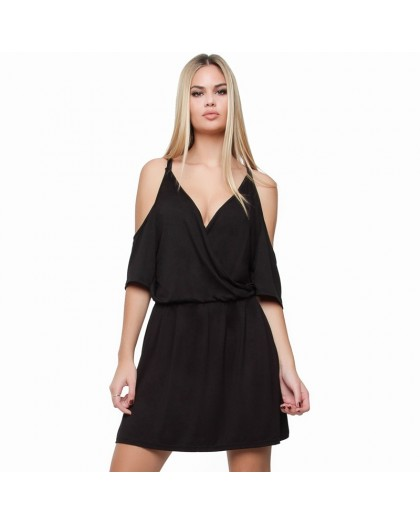 OV Woman's Dress Gomera Solid Black