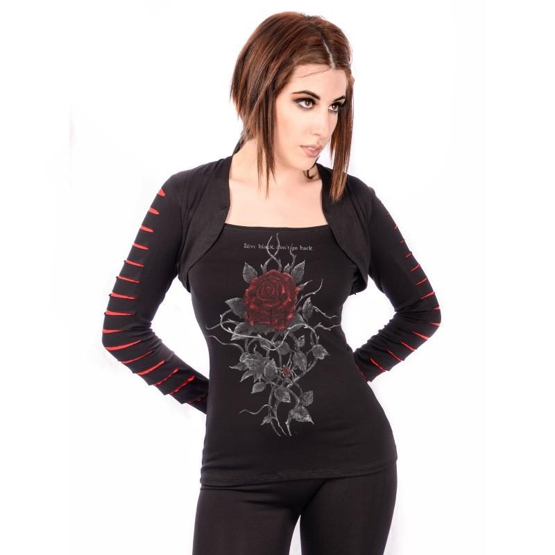 OVG Woman's TOP CORDOBA BLACK/RE
