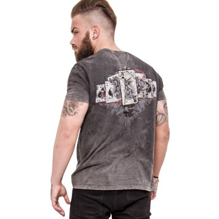 AEA Man's T-shirts   Reapers Ace Vintage Calipo Grey