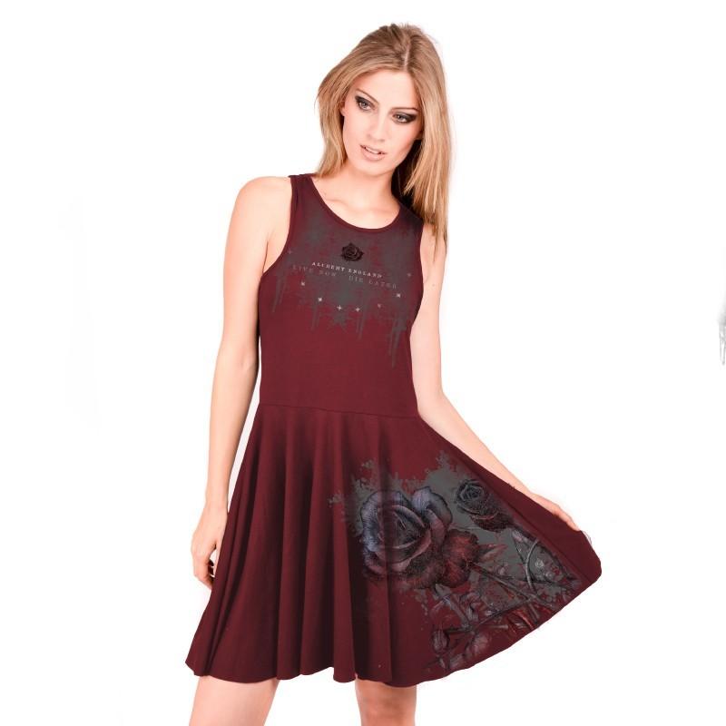 AEA Woman's reversible dress Viana  Bleeding Rose Solid Red