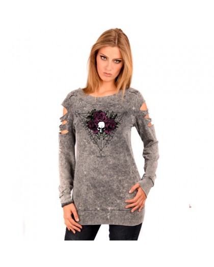 AEA Woman's Sweat-shirt Custom  Anima Roses  Super Marlite